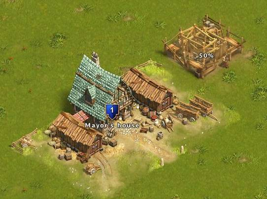 Screen Shot from my new land in Settlers Online.