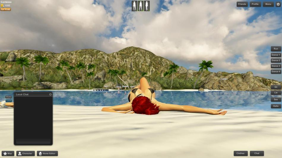 3DXChat - Beach Relaxing (NSFW)